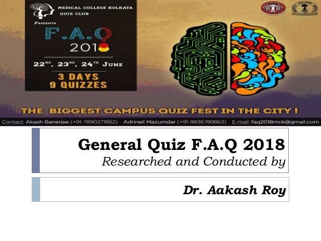 FAQ 2018 General Quiz Prelims answers Slide 2