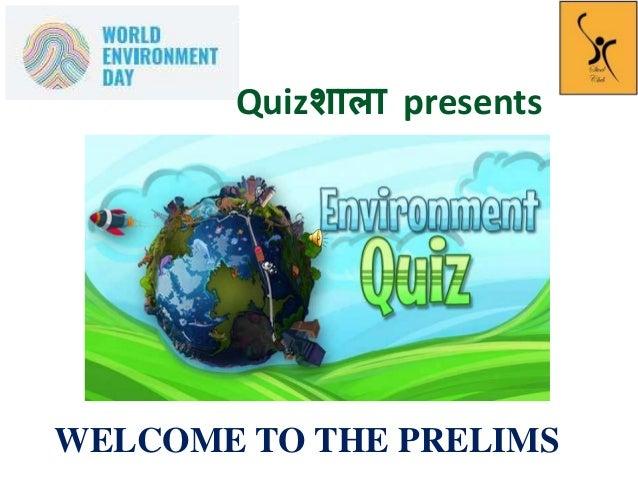 Environment Quiz 2018_Prelims