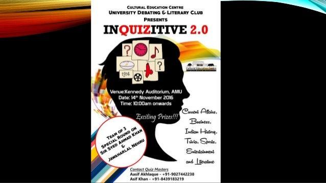 Inter School Quiz Prelimsanswers Amu Quiz Club