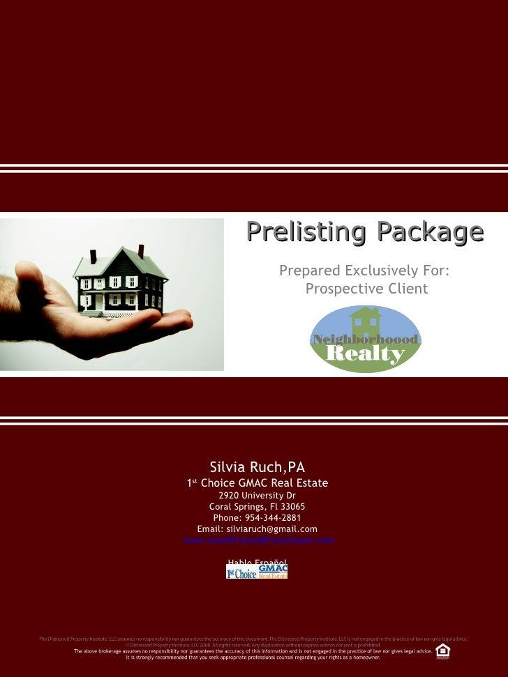 Best Cd Rates >> Prelisting Package