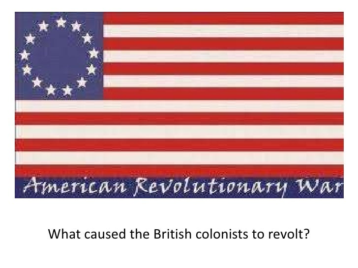 What caused the British colonists to revolt?<br />