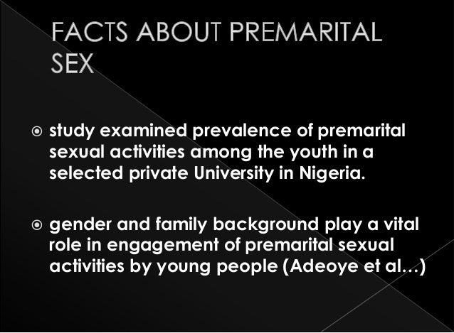 Premarital Sex And Teenage Pregnancy