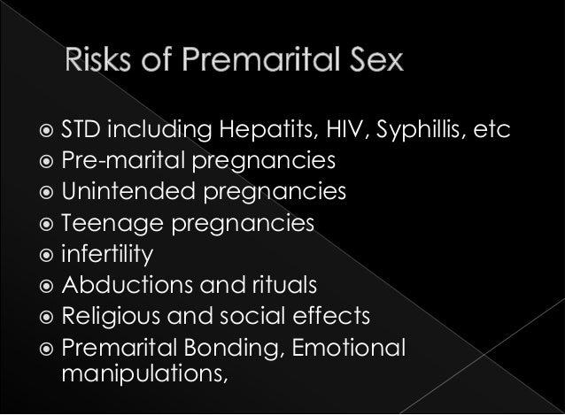 Essays on effects premarital sex