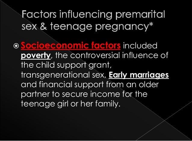 Pre marital sex lead to girls pregnancy