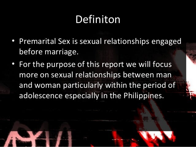 Definitions of premarital sex