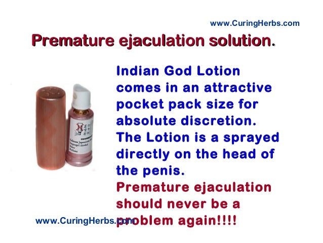 How can i stop my premature ejaculation