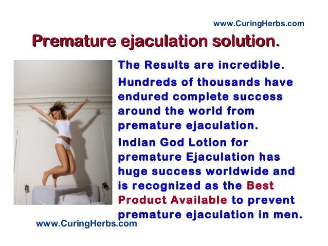 How prevent premature ejaculation