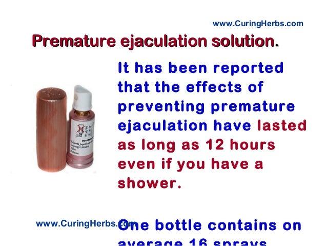 Delay premature ejaculation