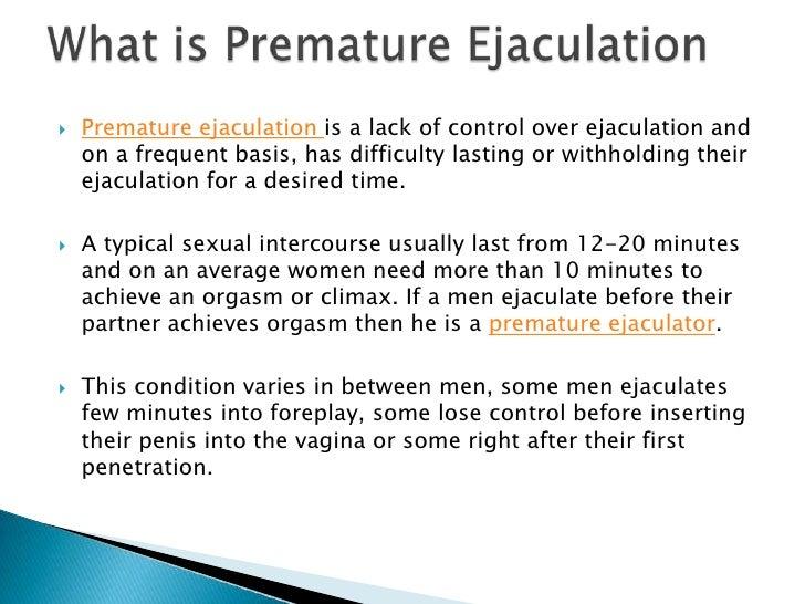Causes of premature ejaculation in men