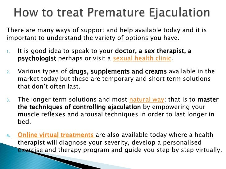 Ejaculation Of What Premature Cause Is