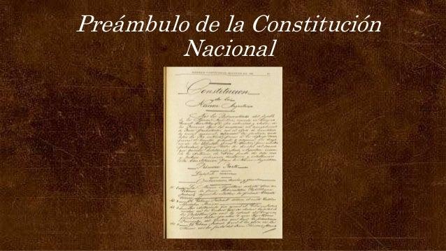 Preámbulo de la Constitución Nacional