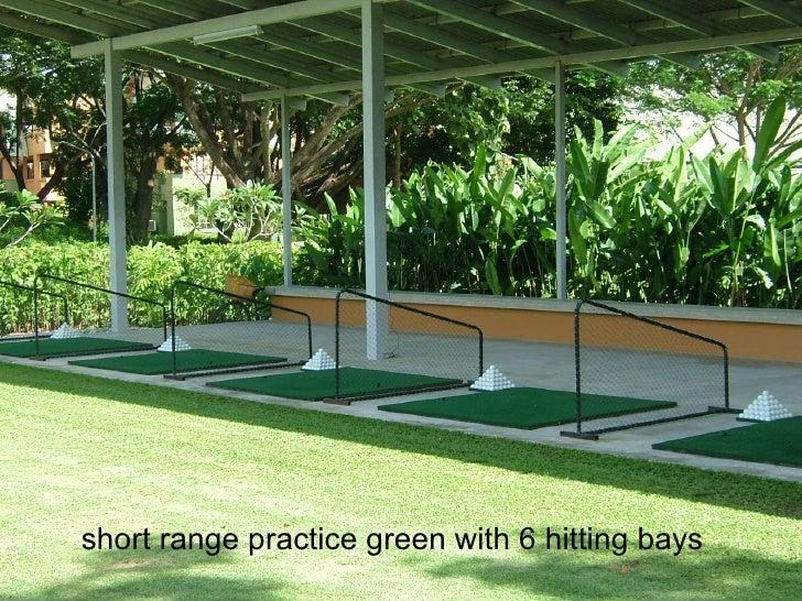 short range practice green with 6 hitting bays