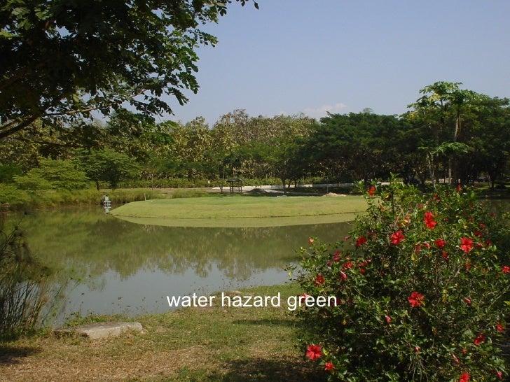 water hazard green