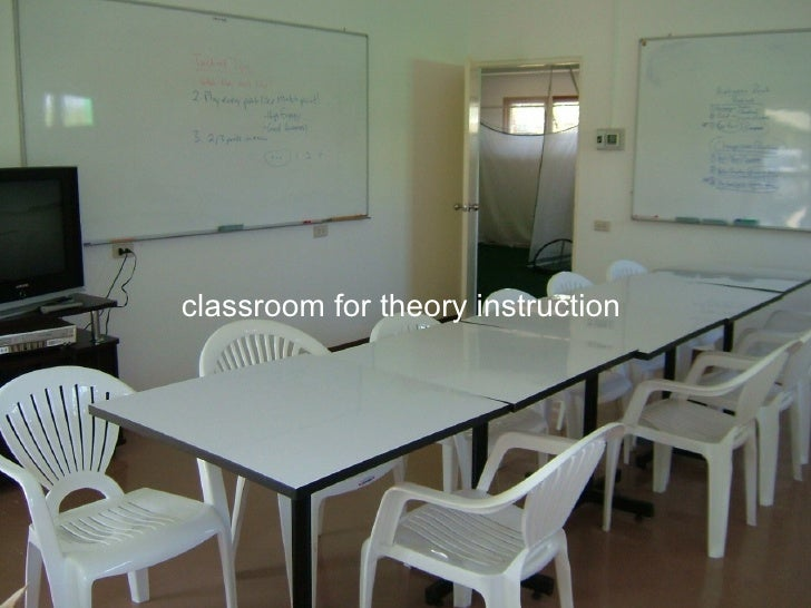 classroom for theory instruction