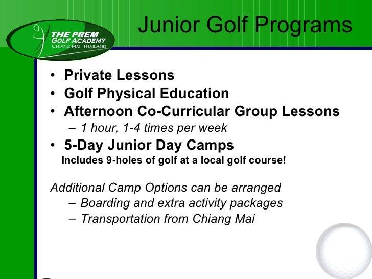 <ul><li>Team Elite programme for talented young players </li></ul><ul><ul><li>- Golf scholarships available for qualified ...