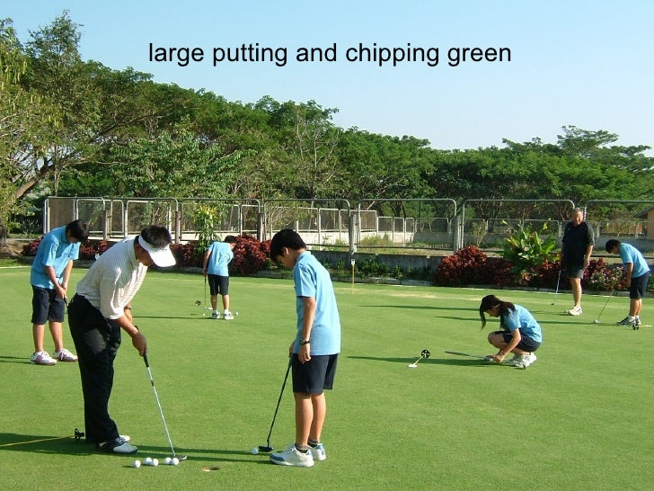 large putting and chipping green
