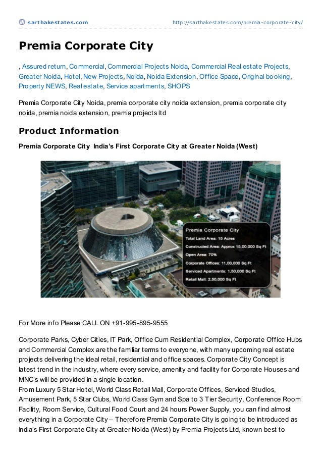 sart hakest at es.com                             http://sarthakestates.com/premia-corporate-city/Premia Corporate City, A...