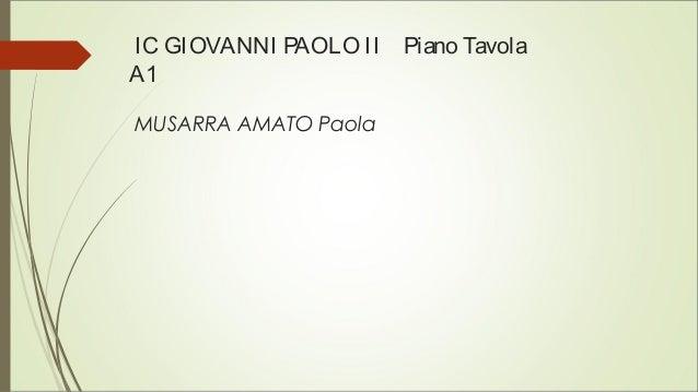 IC GIOVANNI PAOLO II Piano Tavola A1 MUSARRA AMATO Paola