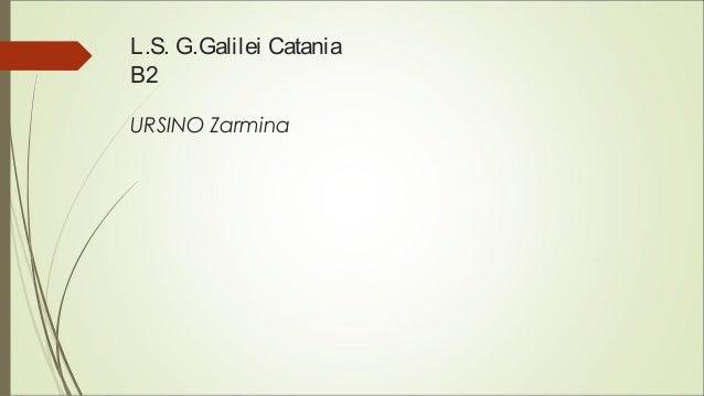 L.S. G.Galilei Catania B2 URSINO Zarmina