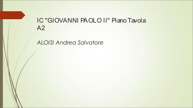 "IC ""GIOVANNI PAOLO II"" Piano Tavola A2 ALOISI Andrea Salvatore"