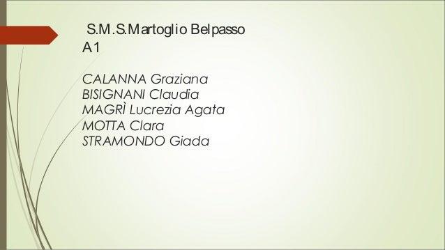 S.M.S.Martoglio Belpasso A1 CALANNA Graziana BISIGNANI Claudia MAGRÌ Lucrezia Agata MOTTA Clara STRAMONDO Giada