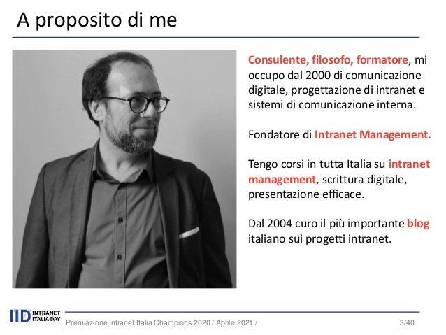 Premiazione intranet italia champions 2020   alcune tendenze - webinar - [intranet management] Slide 3