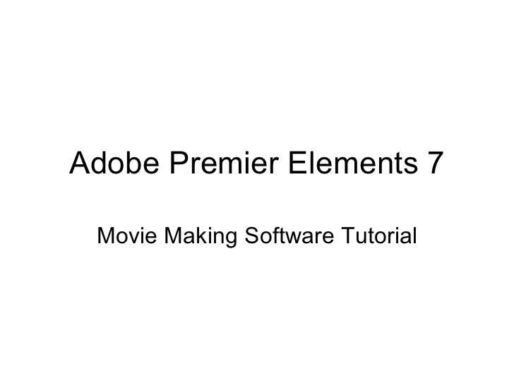 Adobe Premier Elements 7 Movie Making Software Tutorial