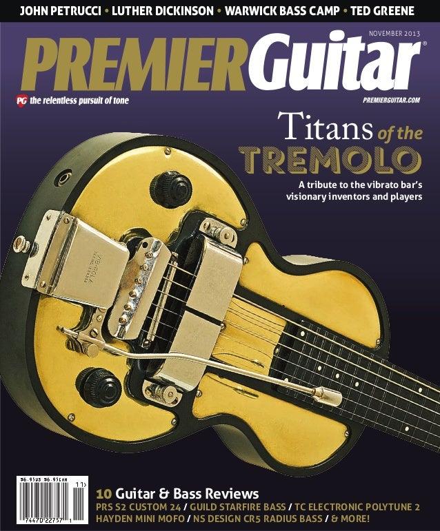 Premier Guitar November 2013 Usa
