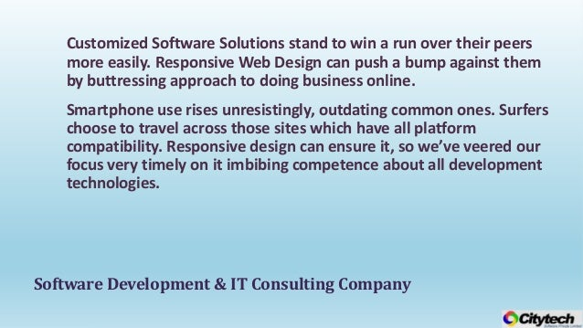 Premier it consulting website design and software for Design and development consultants