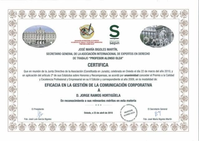 Premio a la comunicación corporativa
