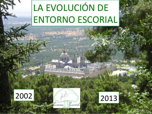 LA EVOLUCIÓN DE  ENTORNO ESCORIAL 2002  2013