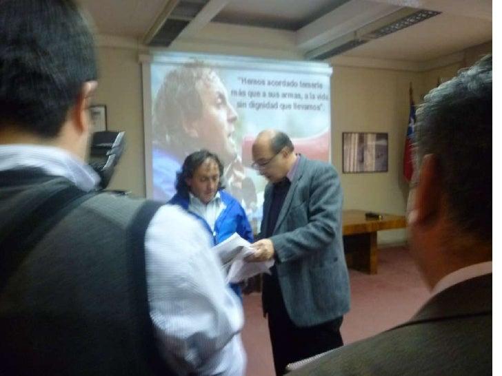 Premio Clotario entregado a Ivan Fuentes