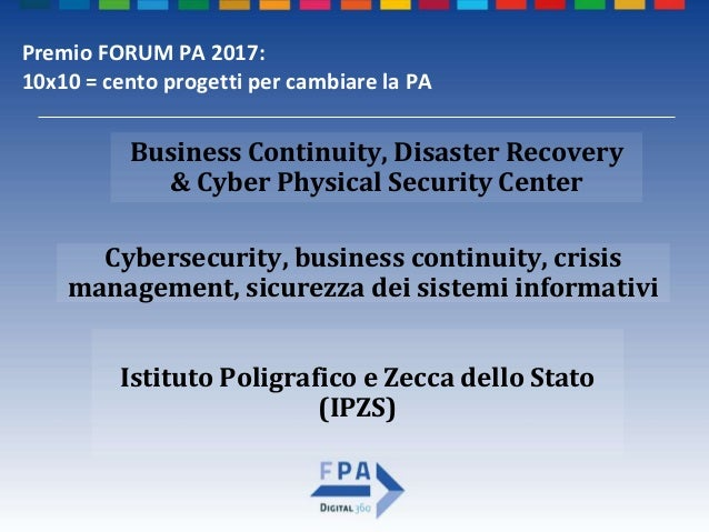 Business Continuity, Disaster Recovery & Cyber Physical Security Center Slide 2
