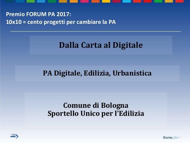 Premio forum pa 2017 comune di bologna Slide 2