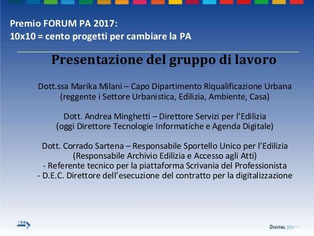 Premio forum pa 2017 comune di bologna Slide 3