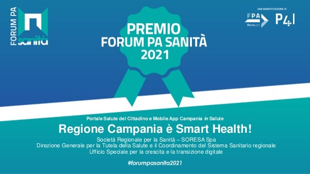 premio forum pa sanita 2021 template ppt regione campania 041021 1 638