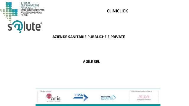 CLINICLICK AGILE SRL AZIENDE SANITARIE PUBBLICHE E PRIVATE