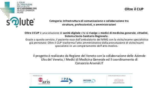 Oltre il CUP Il progetto è realizzato da Regione del Veneto con la collaborazione delle Aziende Ulss del Veneto, i Medici ...