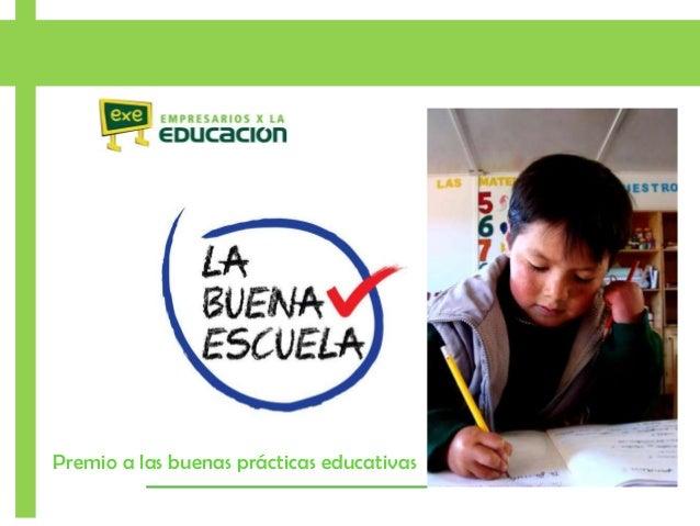 Premio a las buenas prácticas educativas