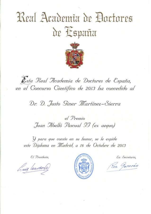 """Premio Nacional de Investigación """"Juan Abelló Pascual II"""". RADE 2013."""