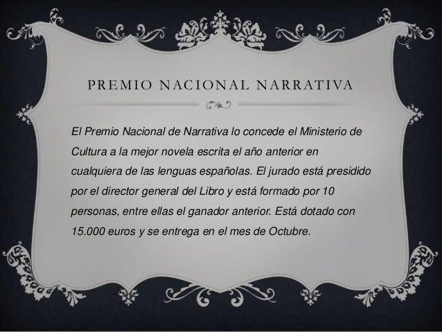 Premio nacional narrativa (2000-2012) Slide 2