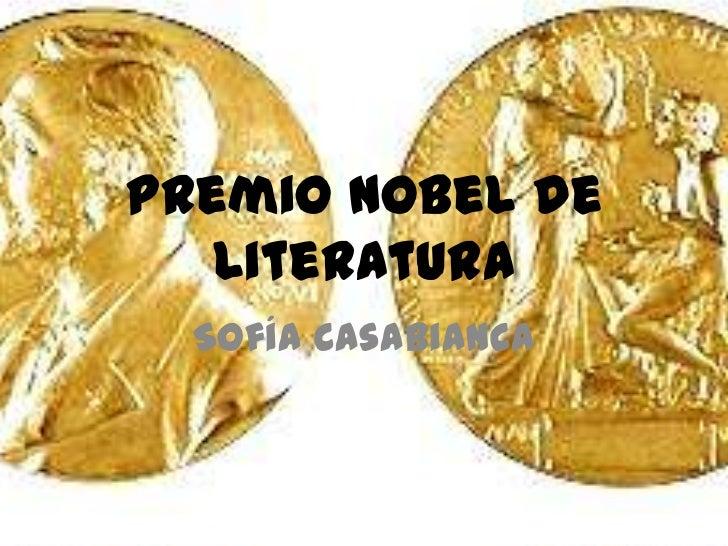 Premio Nobel de   Literatura  Sofía Casabianca