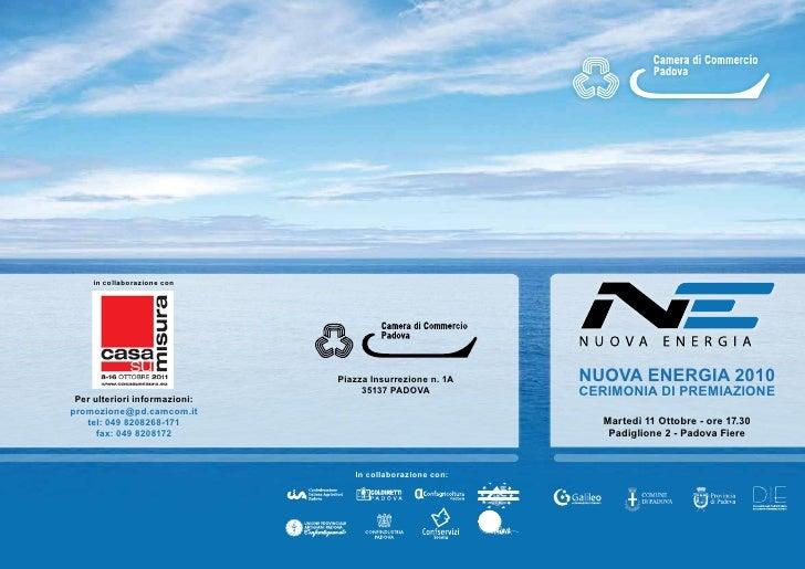 in collaborazione con                               Piazza Insurrezione n. 1A   NUOVA ENERGIA 2010                        ...
