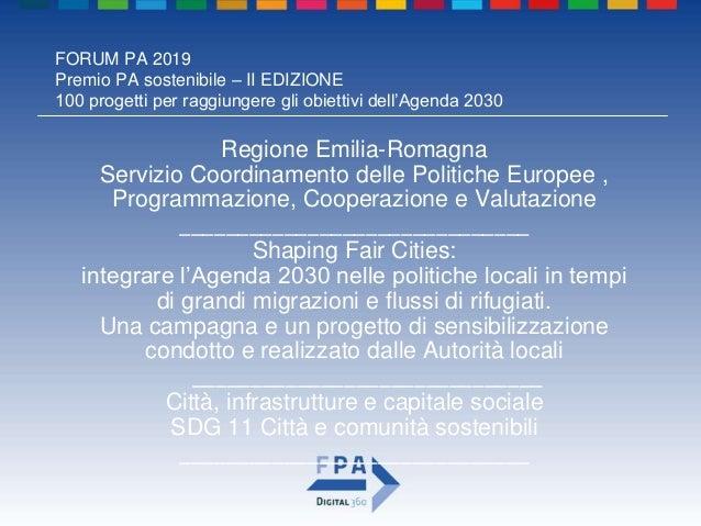 Premio pa sostenibile_2019_regione emilia-romagna Slide 2