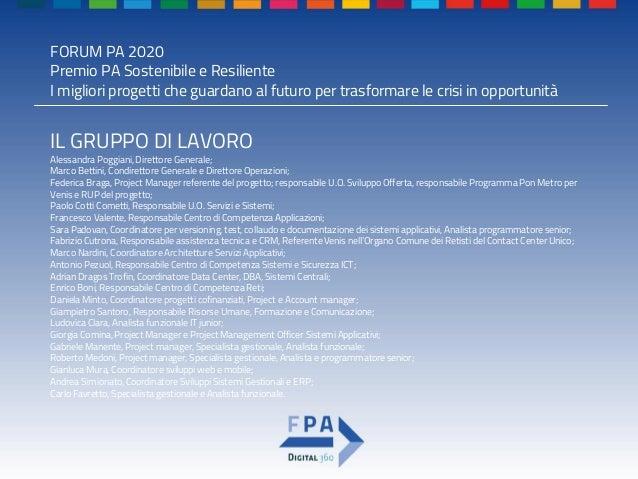Premio pa sostenibile e resiliente 2020 Piattaforma czrm multicanale DiMe Slide 3