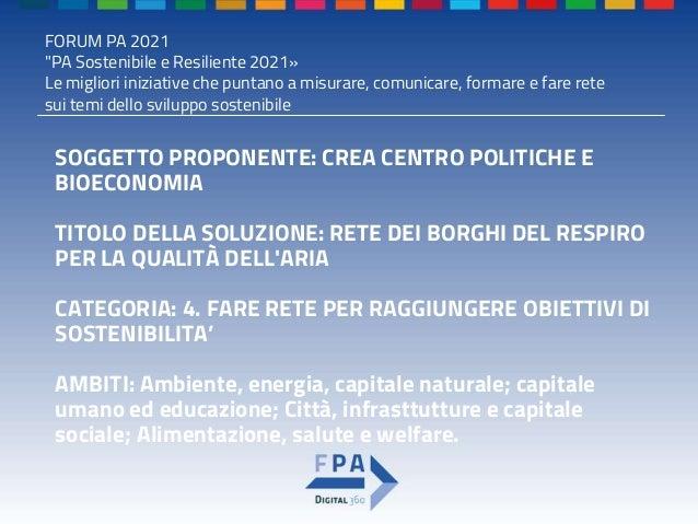 Premio pa sostenibile e resiliente 2021   template ppt-compilato Slide 2