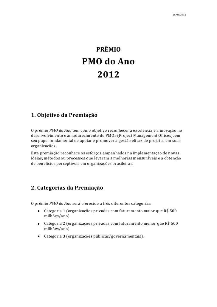 28/06/2012                                  PRÊMIO                           PMO do Ano                             20121....
