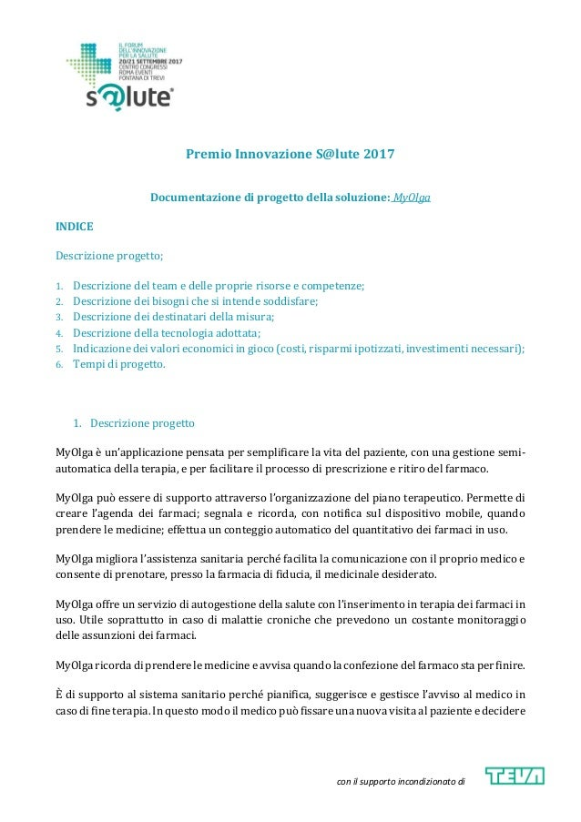 Indice Dei Farmaci.Premio Salute2017 Myolga