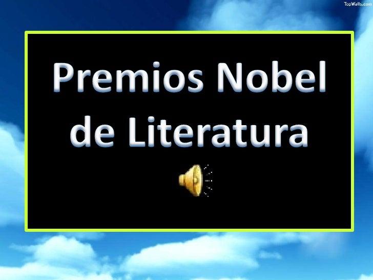 Premios Nobel de Literatura<br />