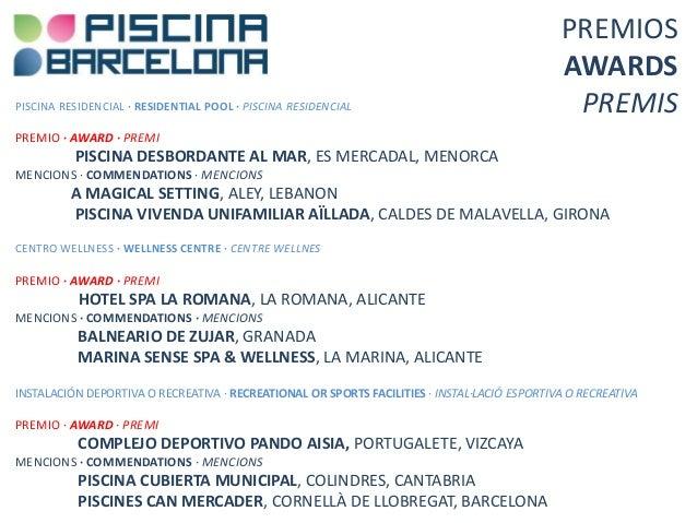 Premios piscina barcelona 2013 for Piscina municipal girona